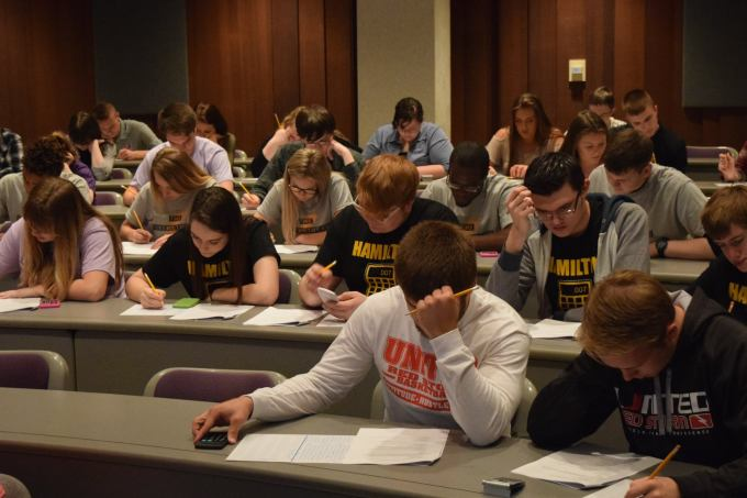 Students at WIUs 12th annual Accounting Challenge.